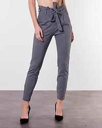 Eva Loose Paperbag Pant Medium Grey Melange