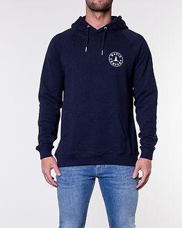 Astern Backprint Hooded Sweatshirt Navy