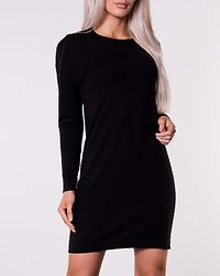 Happy Basic Zipper Dress Black