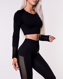 Dynamic Crop Top Black