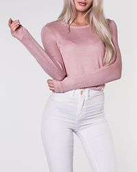 Brianna O-Neck Blouse Misty Rose/Oatmeal