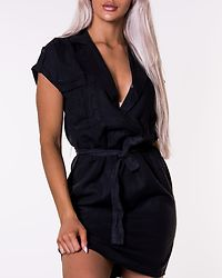 Vera Endi Tencel Shirt Dress Black