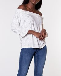 Cathinka Off Shoulder Top Cloud Dancer