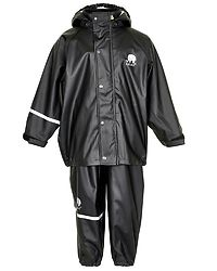 Basic Rainwear Suit -Solid Black
