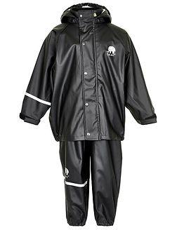 Basic Rainwear Suit -Solid Black
