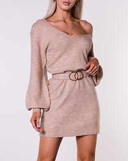 Alma Knitted Dress Beige