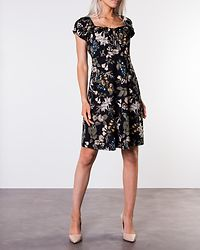 Tessan Dress Black/Patterned Blue