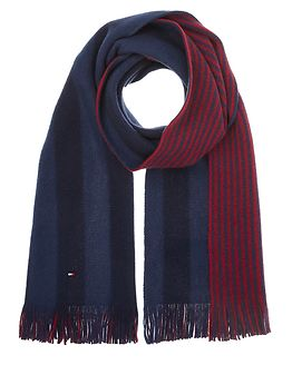 Reversible Brushed Raschell Scarf Tommy Navy