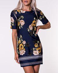 Blenda Dress Blue Patterned