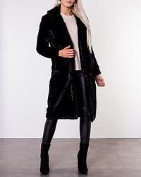 Koda Faux Fur Coat Black
