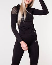 Seamless Long Sleeve Graphite Melange