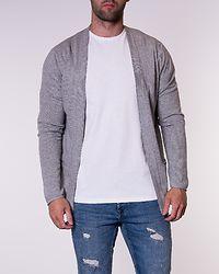 Ryder Organic Knit Cardigan Light Grey Melange/Knit Fit