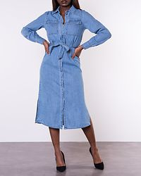 Teagan 7/8 Denim Dress Light Blue Denim