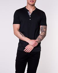 Pima Ask Joe S/S Split Neck Black