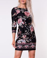 Blenda Tieband Dress Black/Patterned