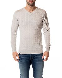Cable Knit Grey
