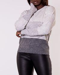 Elanora Stripe Pullover Dark Grey Melange/Colorblock