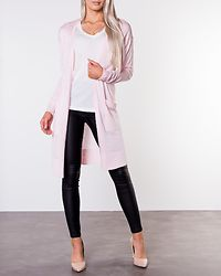Becca Long Knit Cardigan Barely Pink