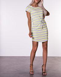 May Life Dress Light Grey Melange/Neon Yellow