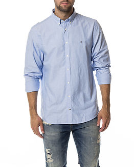 Engineered Oxford Shirt Blue