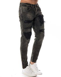 Jeans Worn Black Denim