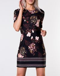 Blenda Dress Black/Floral Patterned