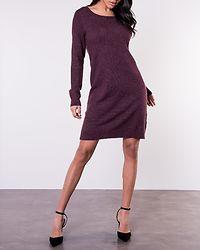 Ril Knit Dress Winetasting/Melange