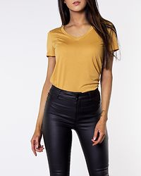 Spicy V-Neck Top Amber Gold