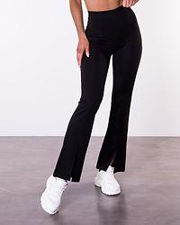 Pretty Flare Slit Pant Black