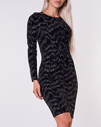 Wipy Dress Black/Silver