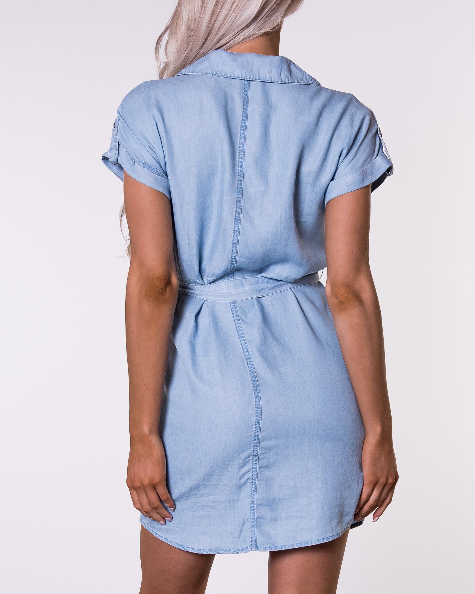 Noisy may, Vera Endi Tencel Shirt Dress Light Blue Denim