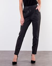Eva Loose String Pants Dark Grey Melange