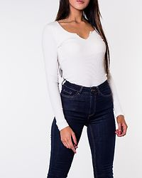 Citte V-Neck Top Cloud Dancer