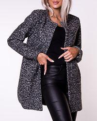 Sidney Boucle Wool Coat Dark Grey Melange