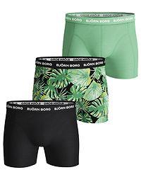 3-Pack Shorts La Garden Black Beauty/Green
