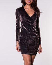Denise Short Dress Coffee Bean/Metallic