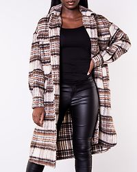 Gemma Check Long Jacket Bungee Cord