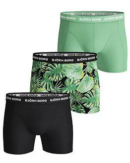 3-Pack Shorts La Garden Black Beauty/Green