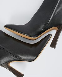 Flared High Heel Boots Black