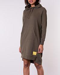 Chili Hood Sweat Dress Kalamata/Neon Yellow