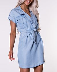 Vera Endi Tencel Shirt Dress Light Blue Denim