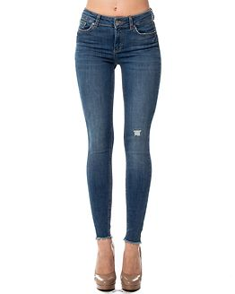 Five Delly Skinny Cropped Jeans Medium Blue Denim