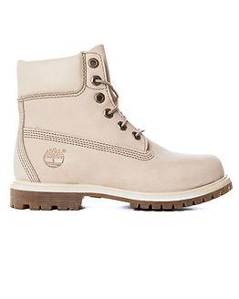 6 Inch Premium White Boot