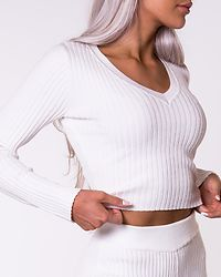 Ribbed Knit Off White