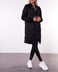 Alana 2in1 Quilted Coat Black