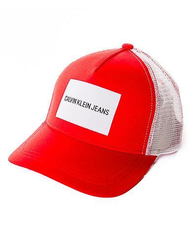 33d9a92a17e J Retro Trucker Cap Red. Calvin Klein Jeans