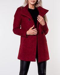 Sophia Boucle Wool Coat Merlot/Melange