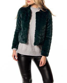Evan Short Fake Fur Jacket Ponderosa Pine