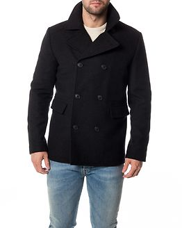 Merce Wool Peacoat Dark Grey Melange
