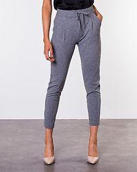 Eva Loose String Pants Medium Grey Melange